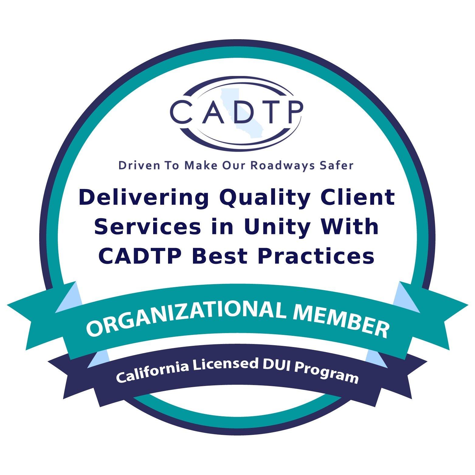 CADTP Organizational Member Badge